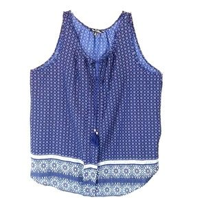 Time to bloom blue tunic top size 3x